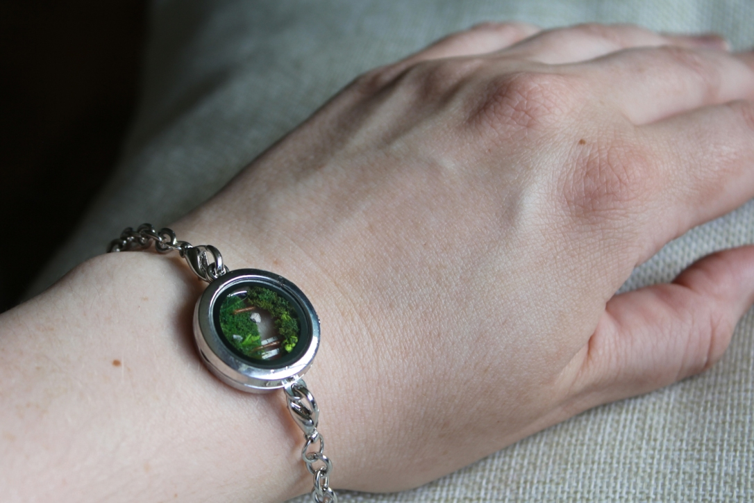 Forest Diorama Bracelet by MeandrousArt